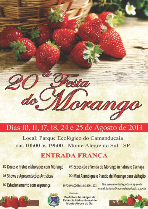 festa do morango monte alegre do sul