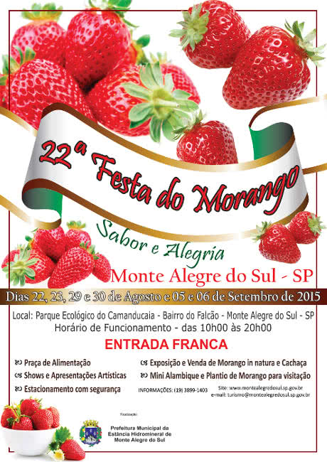 Festa do Morango 2015 em Monte Alegre do Sul - SP
