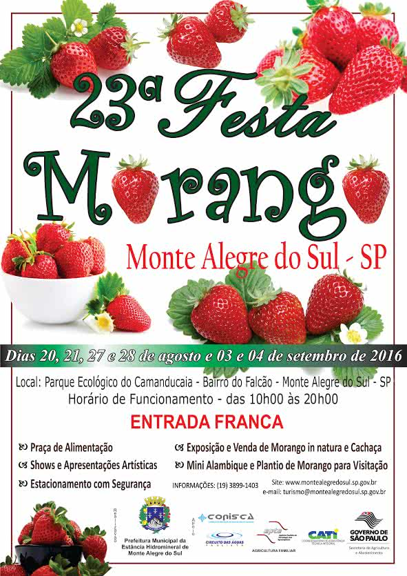 Festa do Morango 2016 em Monte Alegre do Sul - SP